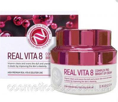 Крем для обличчя з комплексом вітамінів і екстрактом обліпихи Enough Real Vita 8 Pro Complex Bright Up, 50 мл