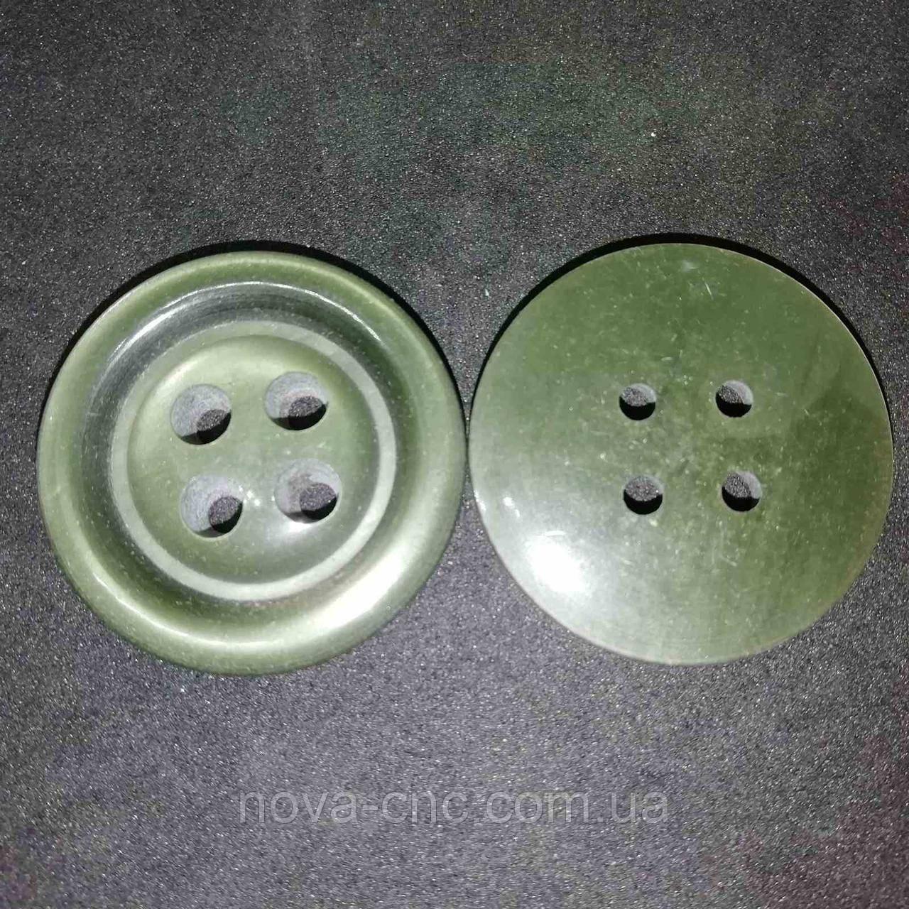 Пуговица пластмассовая 27 мм Цвет хаки зеленый Упаковка 170 штук