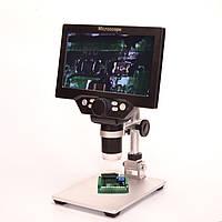 Цифровой микроскоп на штативе G1200 с монитором 7 дюймов и 12 мегапиксельной камерой