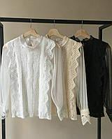 Шикарная нарядная блузка с кружевом и сеткой, фото 1