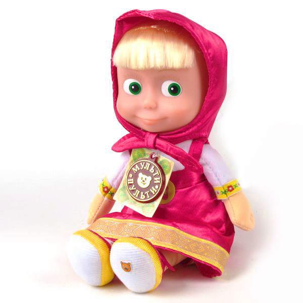 Игрушка Кукла Маша из мультфильма Маша и Медведь (музыка) 29см