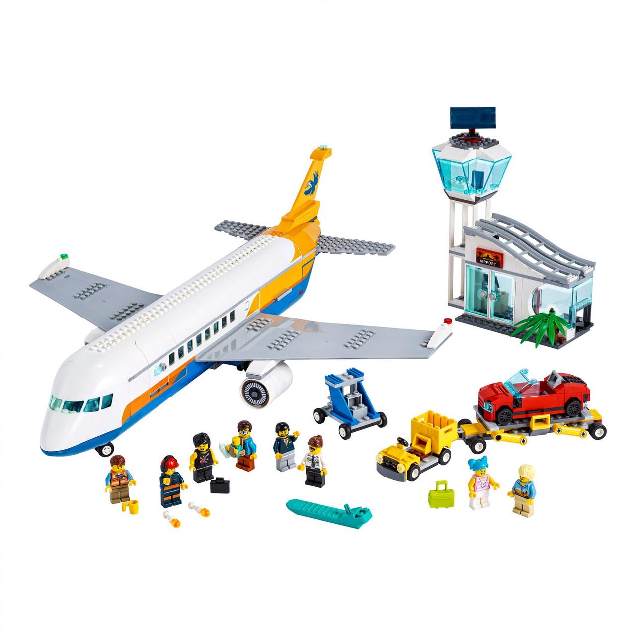 Конструктор LEGO 60262 City Пассажирский самолет 669 деталей Passenger Airplane