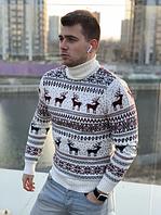 Новогодняя кофта с оленями мужская ,свитер рождественский мужской
