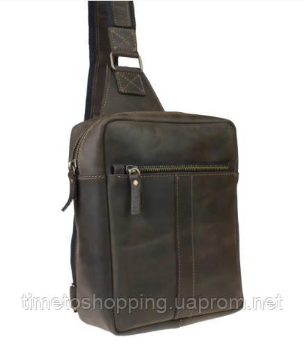 Мужская сумка банка кожаная Мужская сумка ручная работа сумка бананка слинг чоловіча сумка
