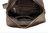 Мужская сумка банка кожаная Мужская сумка ручная работа сумка бананка слинг чоловіча сумка, фото 7