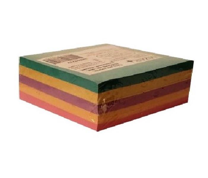 """Блок паперу для нотаток """"Мікс"""" кольоровий 85*85 мм 300 л не клеєний, КД-003-МВ - Міцар"""