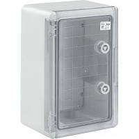 Бокс для электрооборудования пластиковый с монтажной платой, наружный, с прозрачной дверцей (200х300х130)