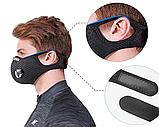 Многоразовая маска со сменными фильтрами и капанами, фото 5