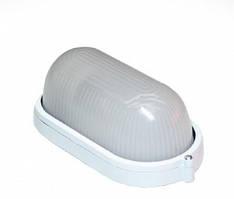 Светильник настенный евросвет WOL-20 60Вт Е27 овал белый IP65
