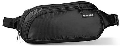 Сумка чоловіча через плече FOUVOR VT-2022-40-black, тканинна чорна