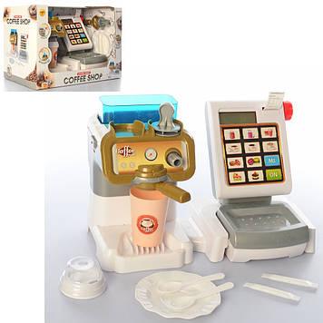 Магазин 34см,каса,кавова машина,посуд,на бат-ці,в кор-ці,35х22х19см №6147-2(12)