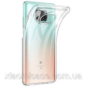 Ультратонкий чехол для Xiaomi (Ксиоми) Mi 10T Lite прозрачный