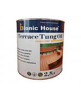 Масло тунговое для террас «Terrace Tung oil» Bionic House (Бионик Хаус) 2.8 л