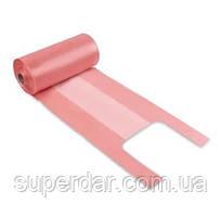 Пакет майка 26х45 рулон, рожева, 12 мкм. уп. 1/500