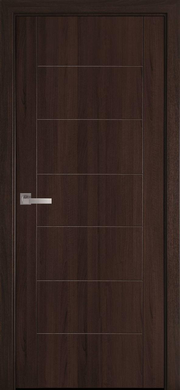 """Дверь межкомнатная """"Новый Стиль"""" модель Рина, каштан, (глухое)"""