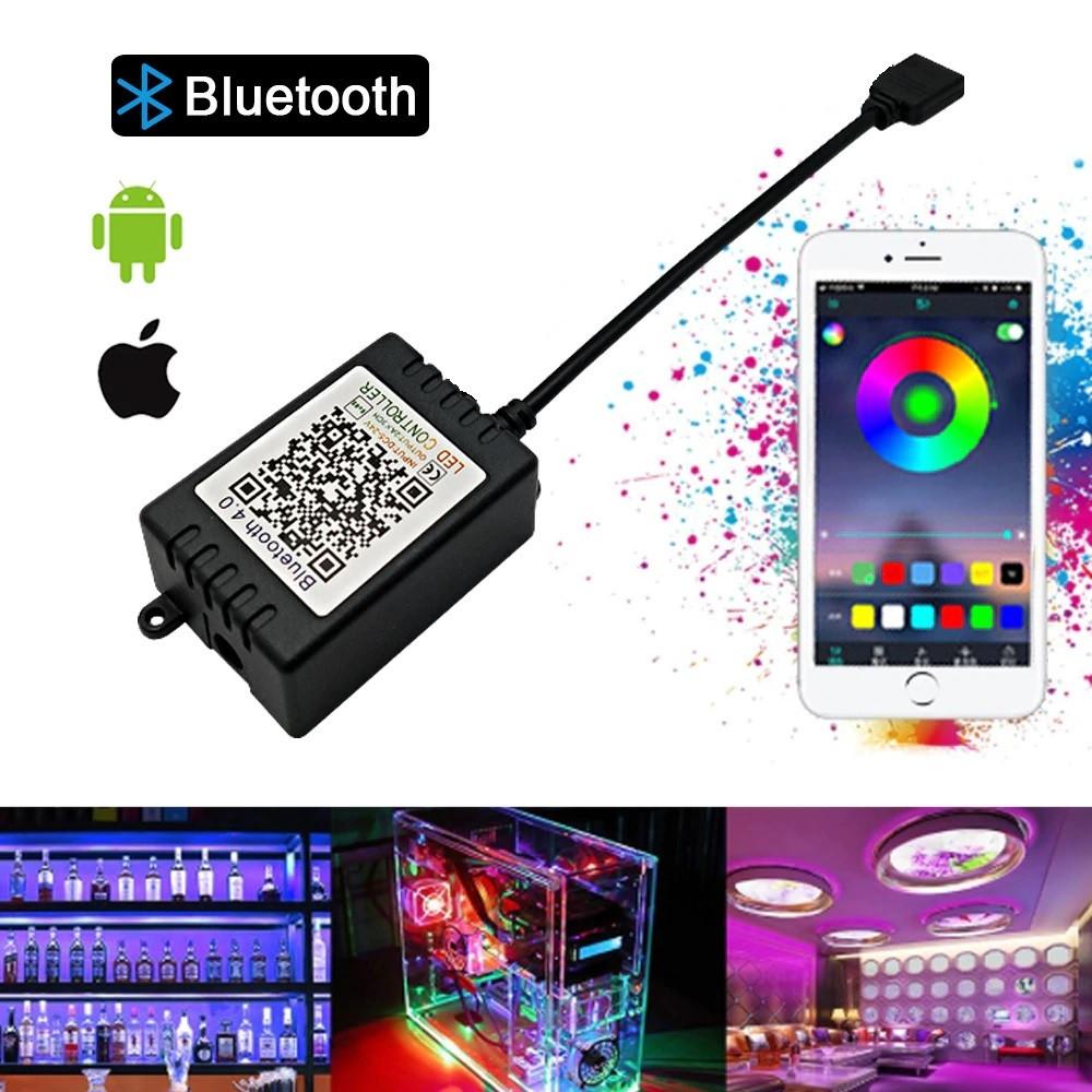 RGB Bluetooth контроллер 12А 144вт черный. Для светодиодной ленты
