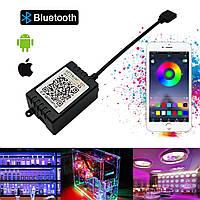 RGB Bluetooth контроллер 12А 144вт черный. Для светодиодной ленты, фото 1