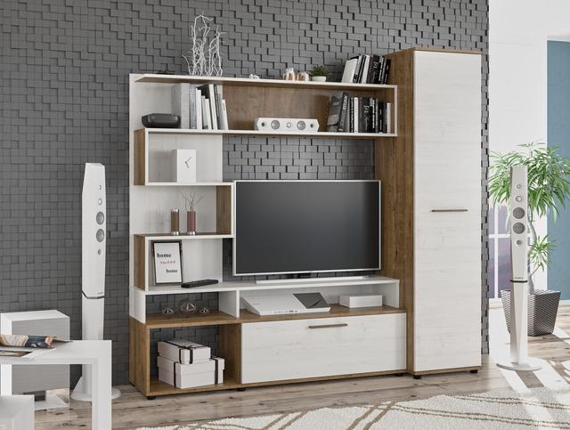 Заказать мебельную стенку Феррара Мебель-Сервис светлая