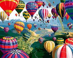 Картины по номерам 40×50 см Mariposa Разноцветные воздушные шары (Q 2233)