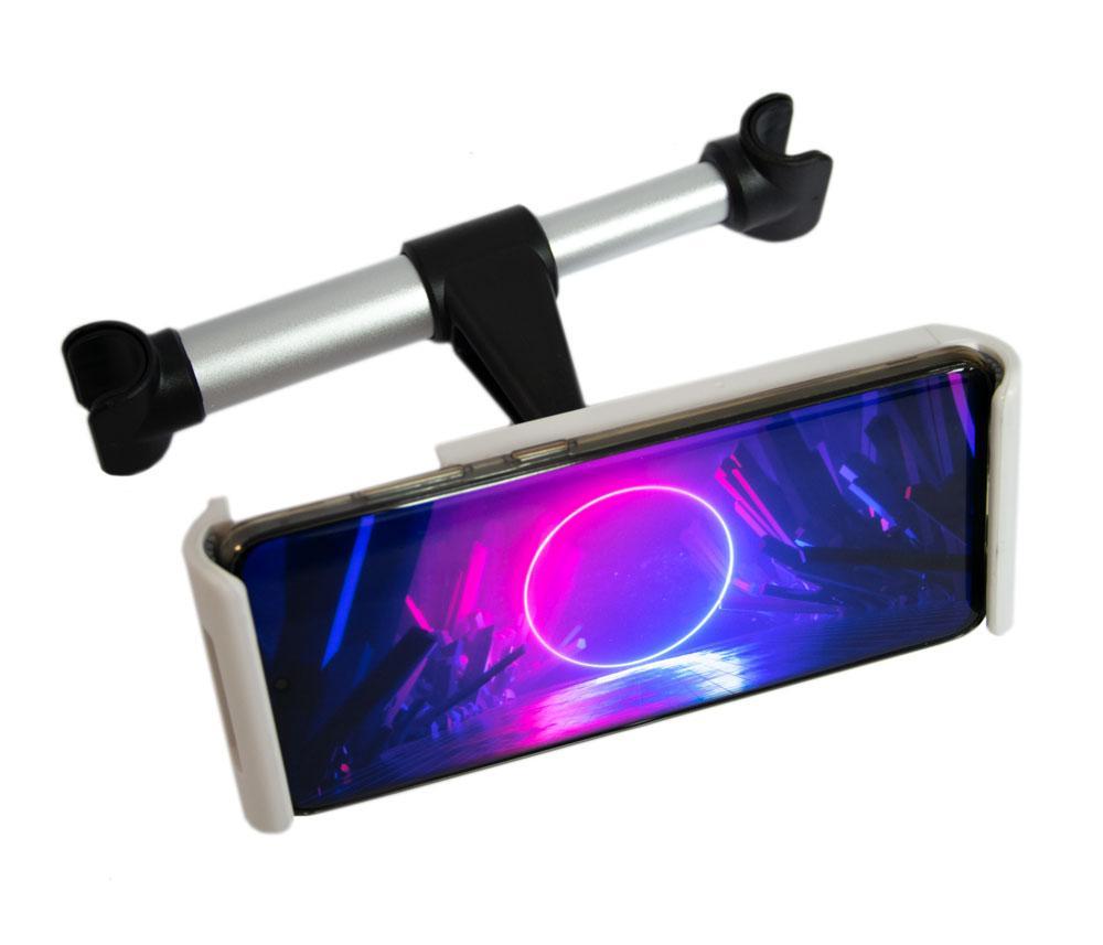 Автодержатель для телефона на подголовник, универсальный Backrest car holder белый, тримач для телефона (NS)