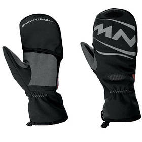 Велоперчатки Northwave Husky L тюлени черный / серый С8910220210
