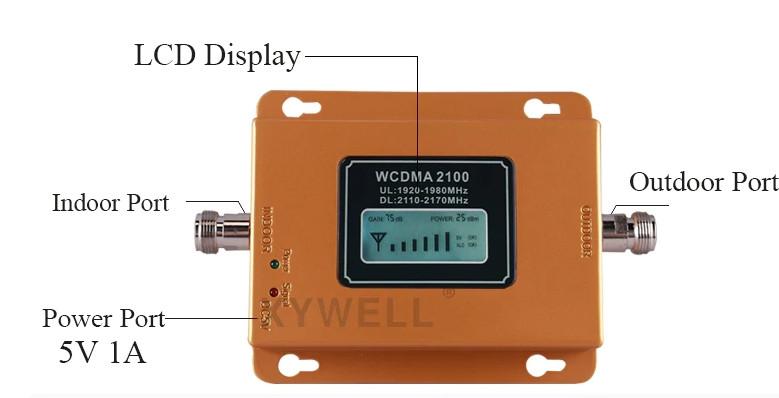 Усилитель сотового мобильного сигнала XYWELL Y20L-WCDMA 2100 МГц