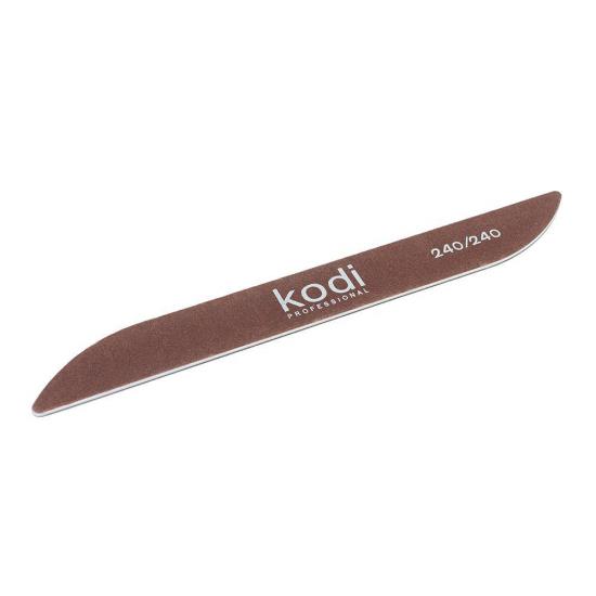 Пилка для ногтей Kodi Professional Бумеранг коричневая 240/240 (178/20/2 мм)