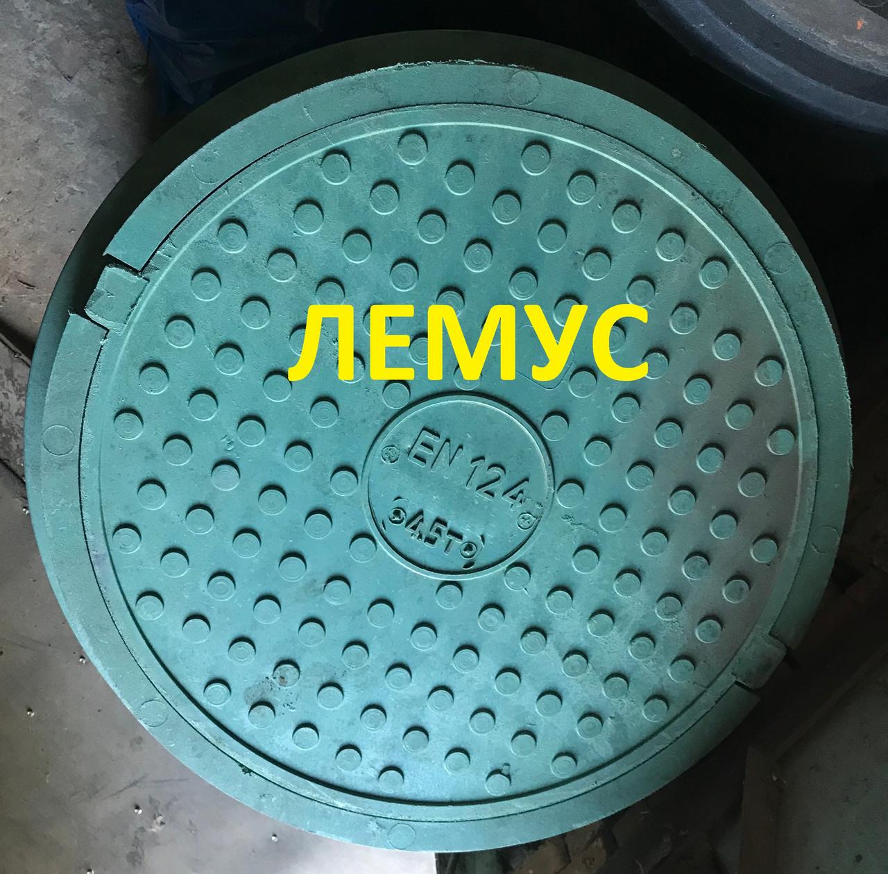 Люк полимерпесчаный зеленый  нагрузка до 4,5т без запорного устройства