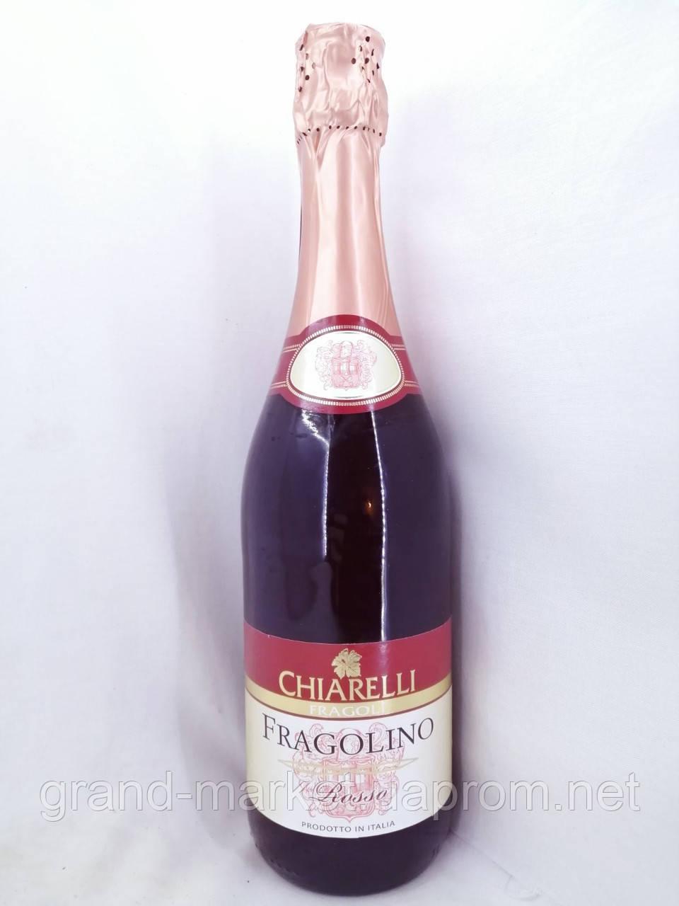 Вино игристое красное полусладкое Fragolino Chiarelli rosso 0.75л