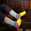 Шкарпетки від Friendly Socks різнокольорові у смужку та горошок, фото 2