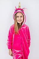 Кигуруми пижама детская и подростковая Единорог розовый