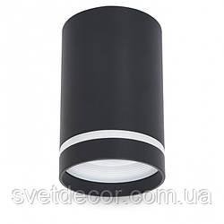 Светильник Накладной Цилиндр Feron ML308 под лампу MR-16 GU10 Точечный Потолочный Черный