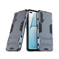 Чехол Hybrid case для Realme X50 / X50m бампер с подставкой темно-синий