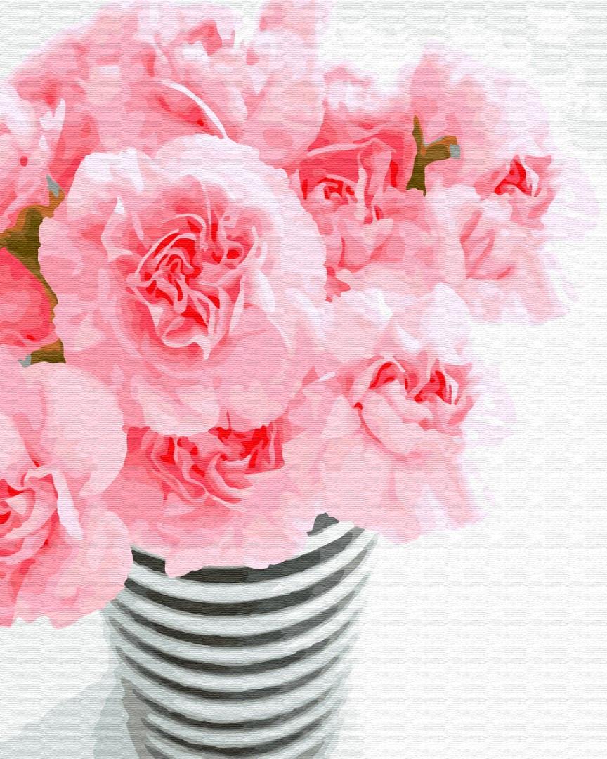 Картина по номерам Нежно розовый букет 40х50 см, BrushMe (GX31556)