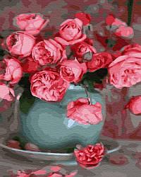 Картина по номерам пейзаж Розовые розы 40х50 см, BrushMe (GX34838)