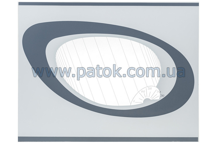 Панорамное стекло двери духовки для плиты Greta 498x384mm