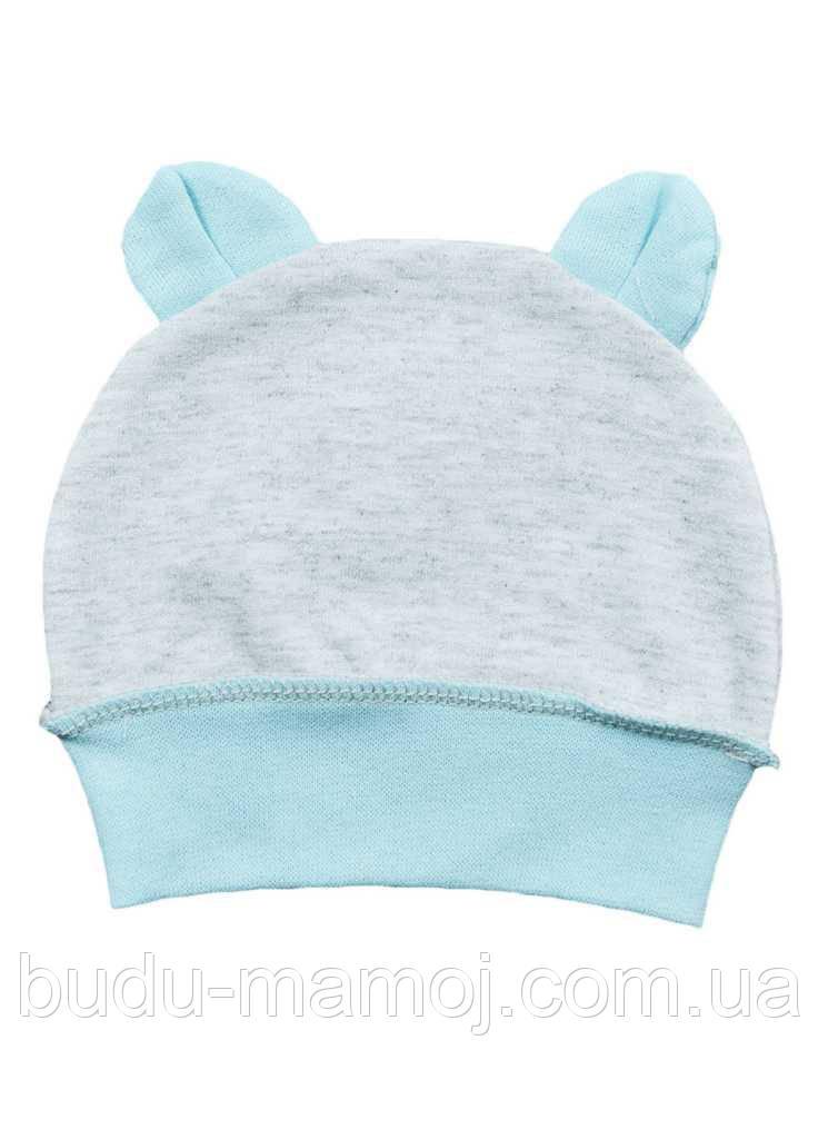 Утепленная хлопковая шапочка для новорожденных