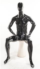Манекен мужской сидячий DF-2 black