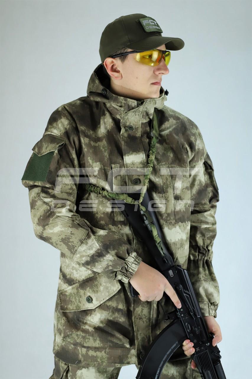 Костюм Горка 5 зимняя камуфляж Атакс серый