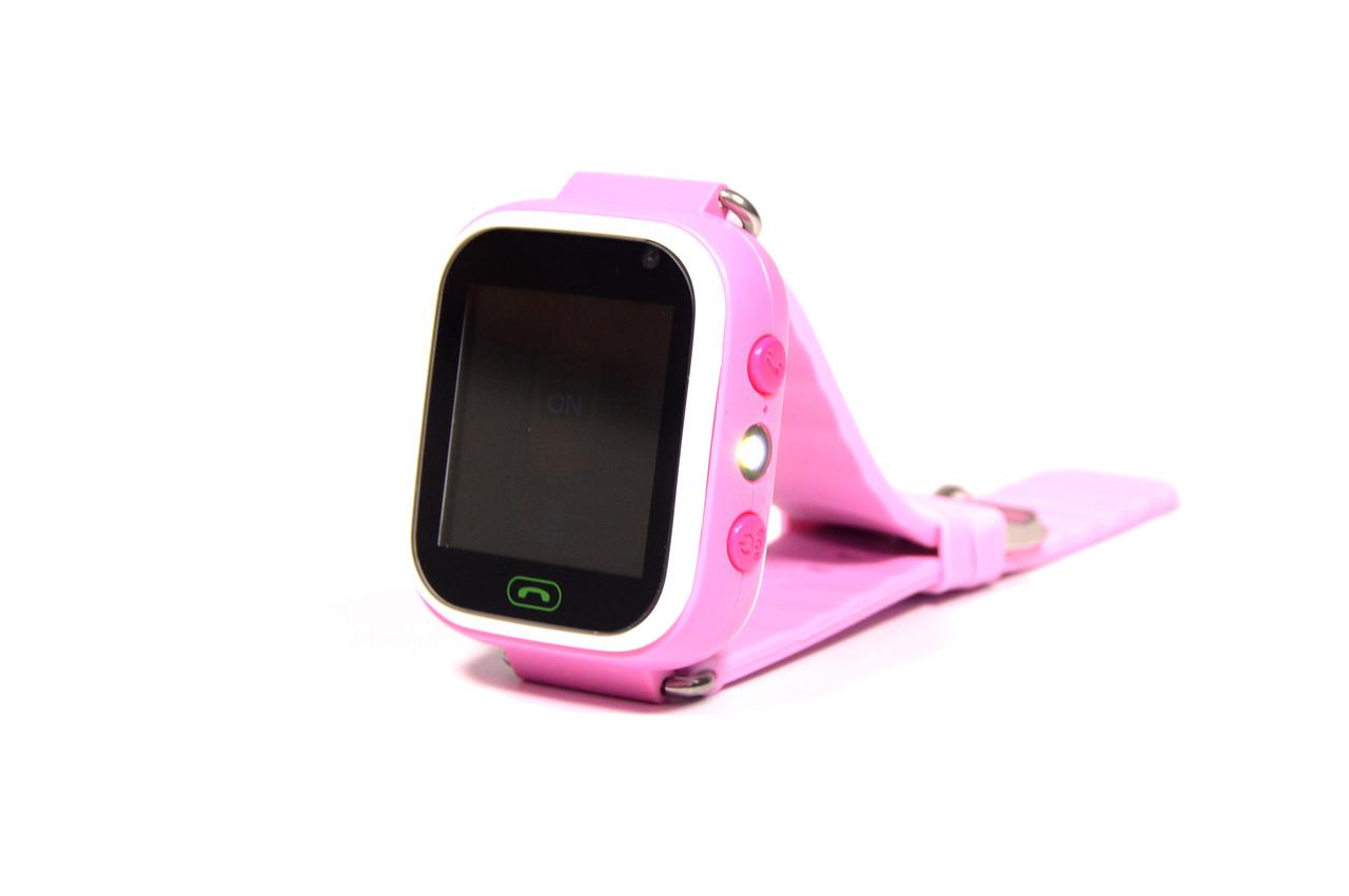 Детские умные часы Smart Watch Q60 (смарт часы с GPS + родительский контроль + фонарь) розовые