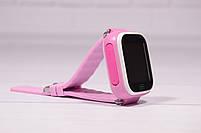 Детские умные часы Smart Watch Q60 (смарт часы с GPS + родительский контроль + фонарь) розовые, фото 3