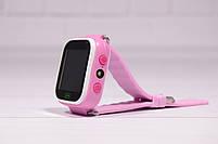 Детские умные часы Smart Watch Q60 (смарт часы с GPS + родительский контроль + фонарь) розовые, фото 4