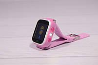 Детские умные часы Smart Watch Q60 (смарт часы с GPS + родительский контроль + фонарь) розовые, фото 6