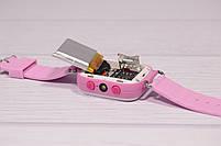 Детские умные часы Smart Watch Q60 (смарт часы с GPS + родительский контроль + фонарь) розовые, фото 10