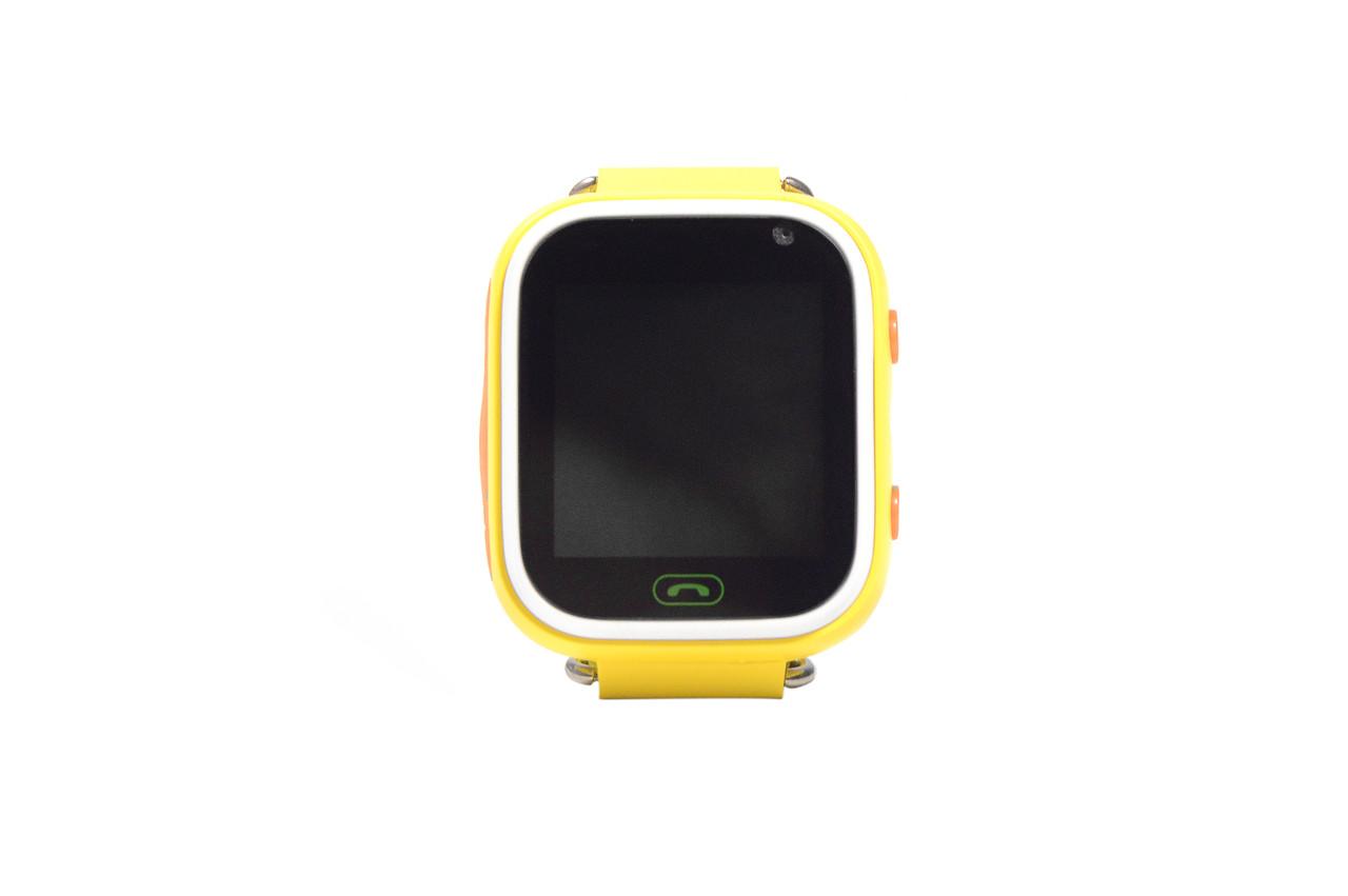 Детские умные часы Smart Watch Q60 (смарт часы с GPS + родительский контроль + фонарь) жёлтые