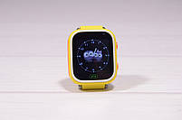 Детские умные часы Smart Watch Q60 (смарт часы с GPS + родительский контроль + фонарь) жёлтые, фото 3