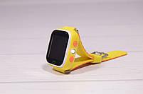 Детские умные часы Smart Watch Q60 (смарт часы с GPS + родительский контроль + фонарь) жёлтые, фото 4