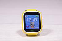 Детские умные часы Smart Watch Q60 (смарт часы с GPS + родительский контроль + фонарь) жёлтые, фото 5