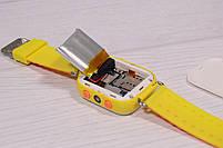 Детские умные часы Smart Watch Q60 (смарт часы с GPS + родительский контроль + фонарь) жёлтые, фото 9