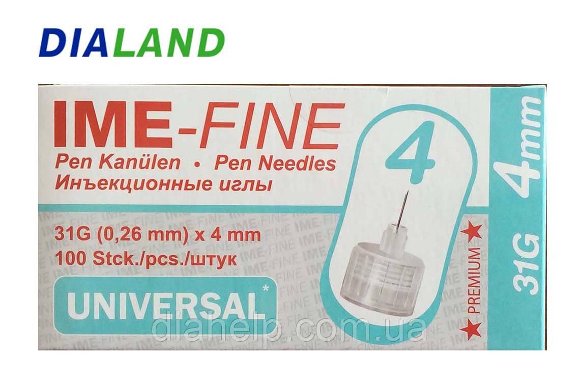 Голки ІМЕ-ФАЙН ( IME-FINE ) для шприц-ручок 31G*4мм